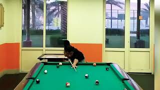 Learn pool tricks,how to bring cue Ball right track