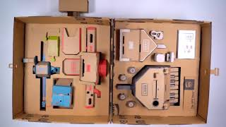 Funny UPS Store ADV Feat Nintendo Labo Toy-Con-Tainer Cartboard Paperbox Bag Wheel