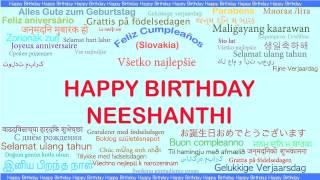Neeshanthi   Languages Idiomas - Happy Birthday