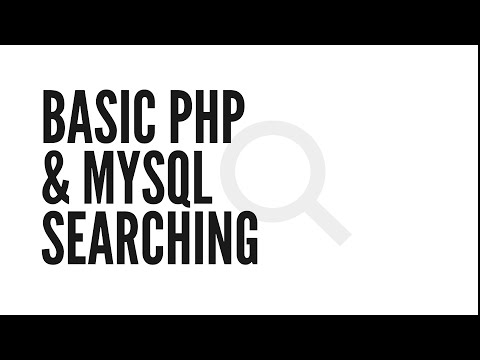 Basic PHP & MySQL Searching