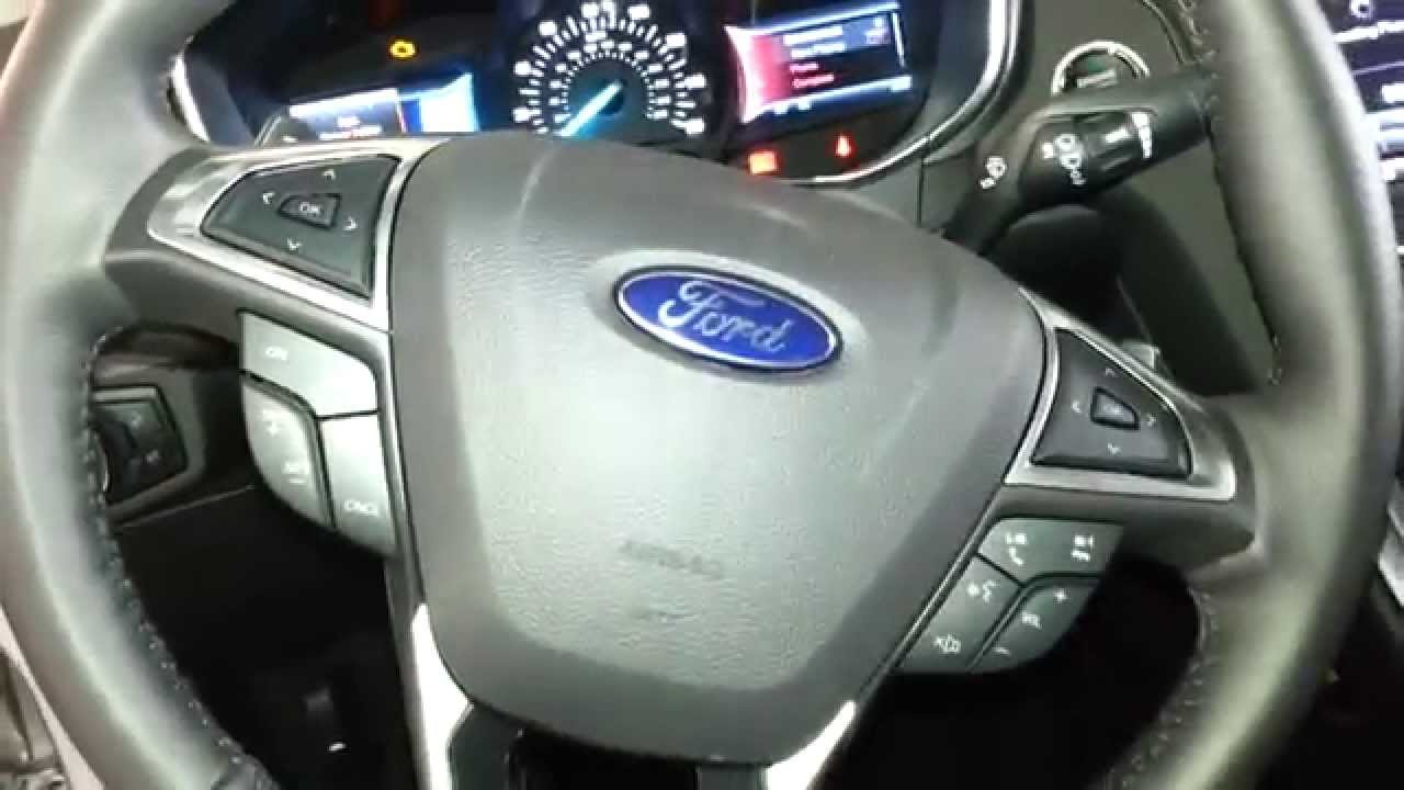 2017 Ford Fusion Anium Sedan Quick Interior Tour Steering Wheel Driver S Seat