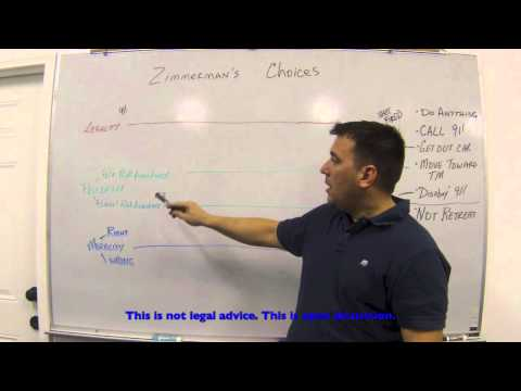 George Zimmerman - Why he is NOT GUILTY- Exploring the implications of getting out of his car