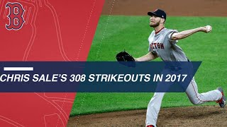 Sale strikes out 308 in 2017