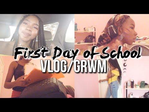 FIRST DAY OF HIGH SCHOOL GRWM/VLOG | sophomore year !