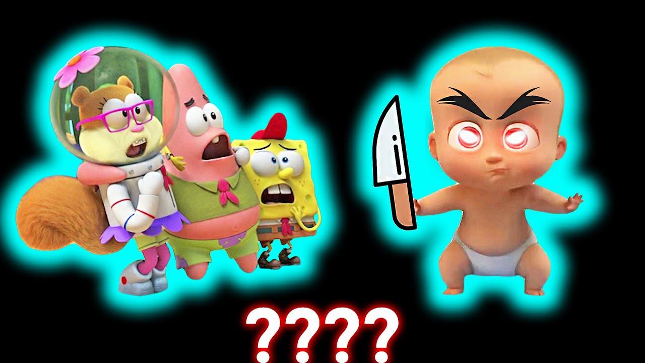 14 SpongeBob Patrick Sandy 3D 🧽DA DA DA Dangerous🧽 Sound Variations in 36 Seconds