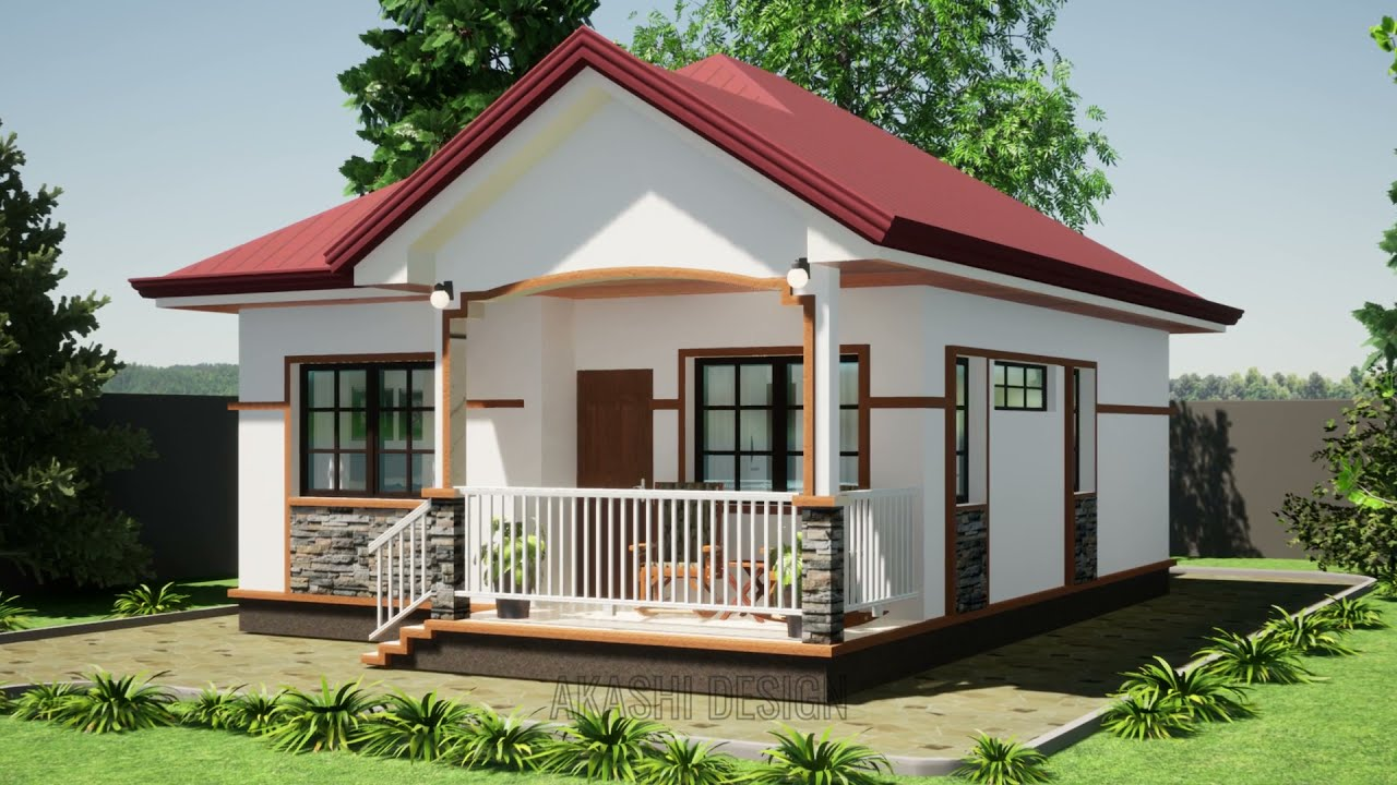 Download SMALL BUNGALOW HOUSE DESIGN; SIMPLE 67 SQM