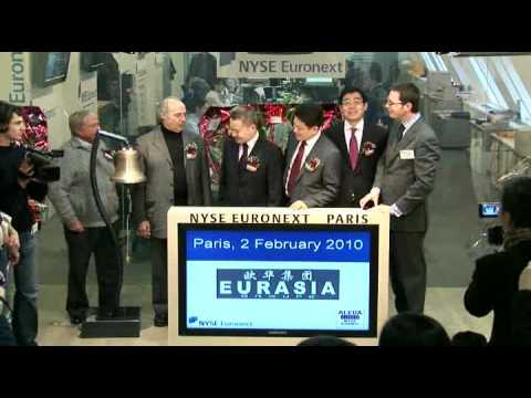 NYSE Euronext in Paris - Opening Bell EURASIA - Listing on NYSE Alternext - 2 February 2010