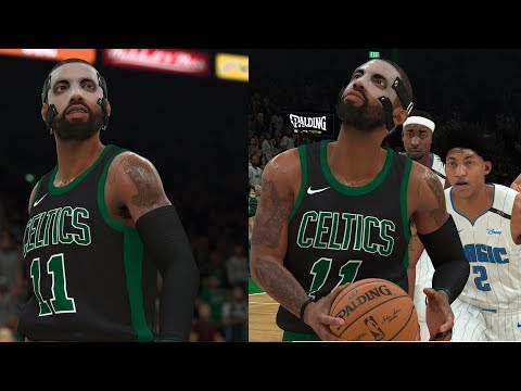 NBA 2K18 Masked Kyrie Irving & Al Horford CLUTCH! Highlights vs Magic 2017.11.24
