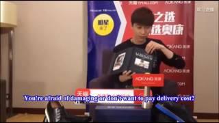 [Engsub][CUT] 03112016 Xiao Bai called Young master on AoKang live stream