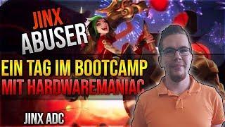 Jinx Abuser! Ein Tag im Bootcamp mit Hardwaremaniac [League of Legends] [Deutsch / German]