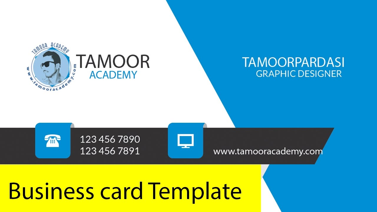 How To Design Business Card Template Urdu/Hindi Tutorial - YouTube
