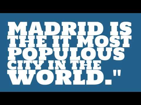 What is the population of Madrid?