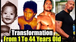 """Dwayne """"The Rock"""" Johnson  - Transformation From 1 To 46 Years Old"""