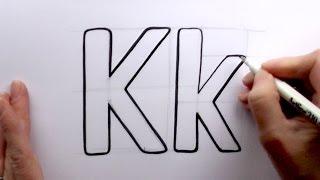 Comment Dessiner un dessin animé Lettre K et k