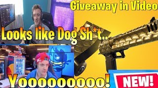 Ninja /Streamers React to *Golden* Scale/Wrap! (GIVEAWAY) fortnite moments funny highlights best