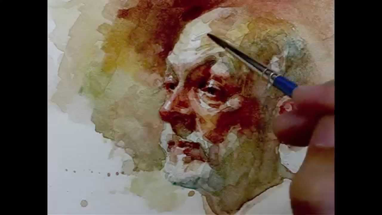 Watercolor step by step how to paint portrait, demo by Zimou Tan ...