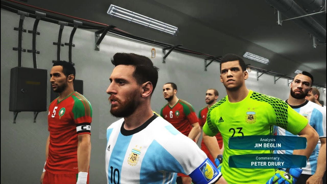Quarter Finals Argentina Vs Morocco Full Match Fifa World Cup  Russia Pes Gameplay