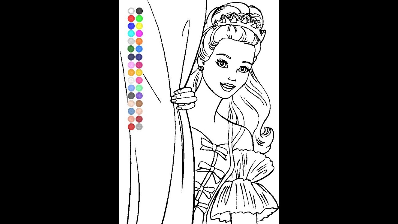 Free Barbie Coloring Pages For Kids - Barbie Coloring Pages - YouTube