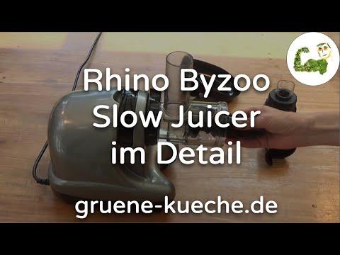 Rhino Byzoo Slow Juicer - Entsafter ausführlich vorgestellt (Teile 1-5 komplett)