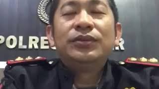 Kapolres Banjar Polda Kalsel.  Takdir Mattanete mengucapkan selamat tahun baru 2018
