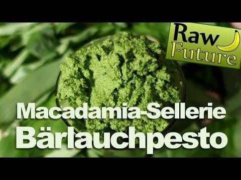 Bärlauchpesto mit Macadamia selber machen - Vegan & Rohkost Rezept! Entgiften mit Bärlauch!