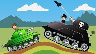 БЕЗУМНОЕ ТАНКОВОЕ СРАЖЕНИЕ Битва в ГОРАХ Мультик игра про ТАНКИ hills of steel