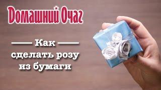 Как сделать розу из бумаги своими руками(Цветы из бумаги могут стать украшением любого подарка или открытки. Надеемся, что наш мастер-класс помог..., 2016-02-25T11:15:25.000Z)