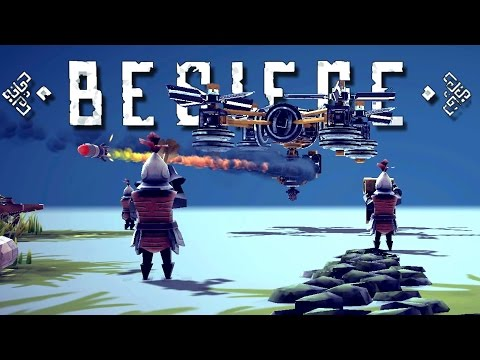 Assault Quadcopter Drone, Mechs, Airships, and More! - Besiege Best Creations Gameplay