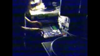 Tenshun playing live beat from Skrapez record