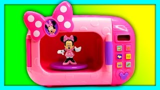 Opening the Mickey And Minnie Mouse Magical Microwave for Surprise Toys