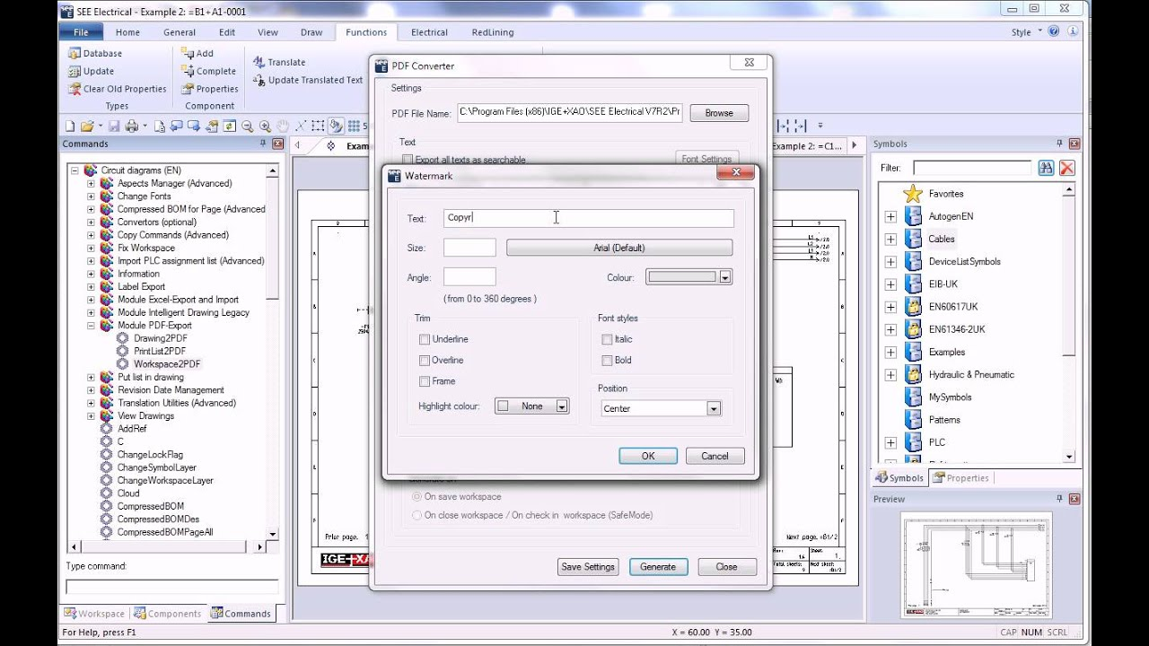 SEE Electrical V7R2 - PDF Export - YouTube