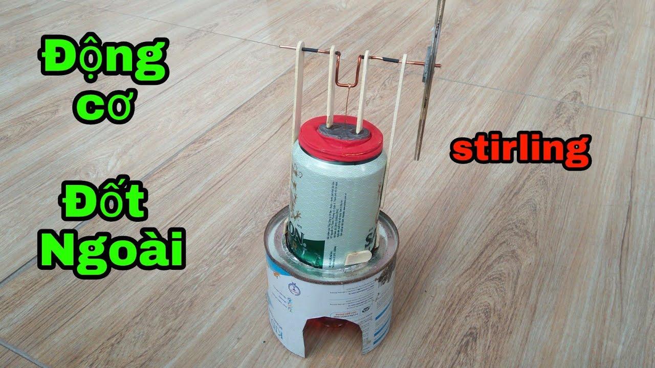 Cách làm Động Cơ đốt ngoài Stirling đơn giản | NVT-Thích Chế Tạo