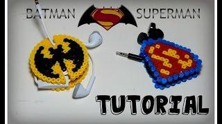 Batman vs Superman PORTA CUFFIETTE/AURICOLARI con Hama beads/Pyssla/Perler DIY Tutorial