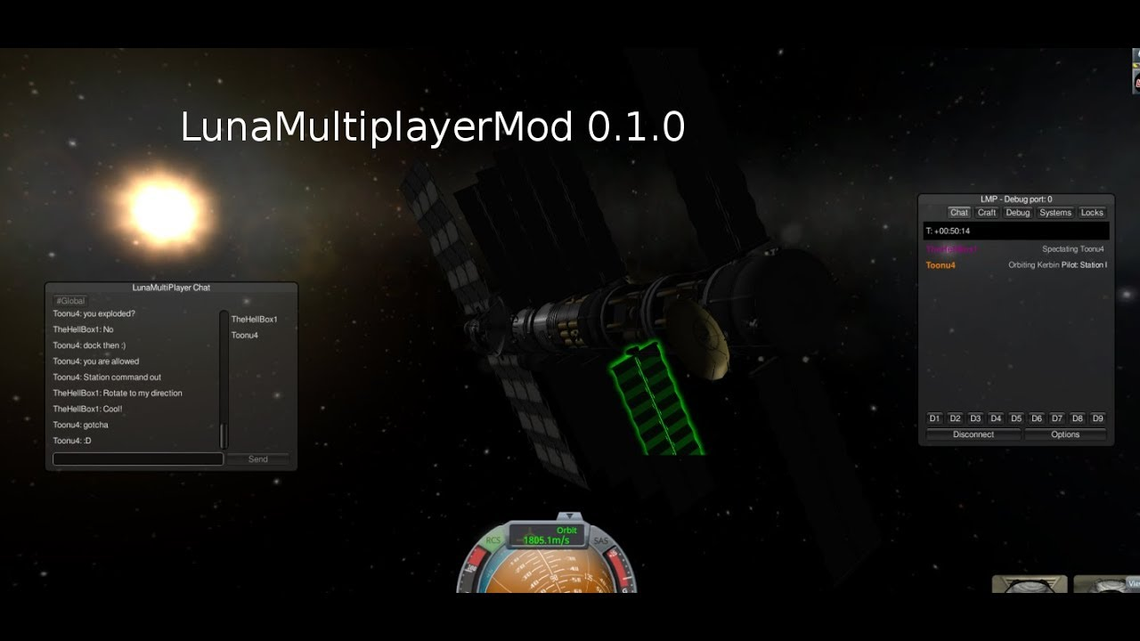 1 7 3] Luna multiplayer (LMP) - Beta - Add-on Development - Kerbal
