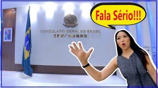 Só atendem 2 horas por dia!!!!  Consulado do Brasil na China Guangzhou - Parte 2