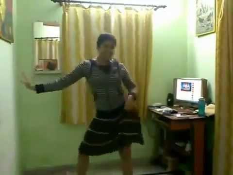 Indian Teenage Girl Dancing at Home
