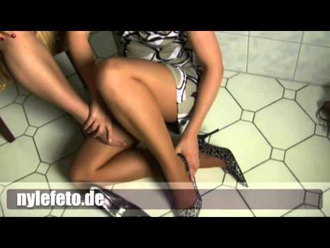 Nylefeto de Roter Nagellack nylon erotic legs fetisch toes pantyhose strumpfhose high heels   YouTub