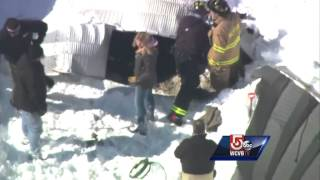Uncut: Horses trapped in collapse in Westford