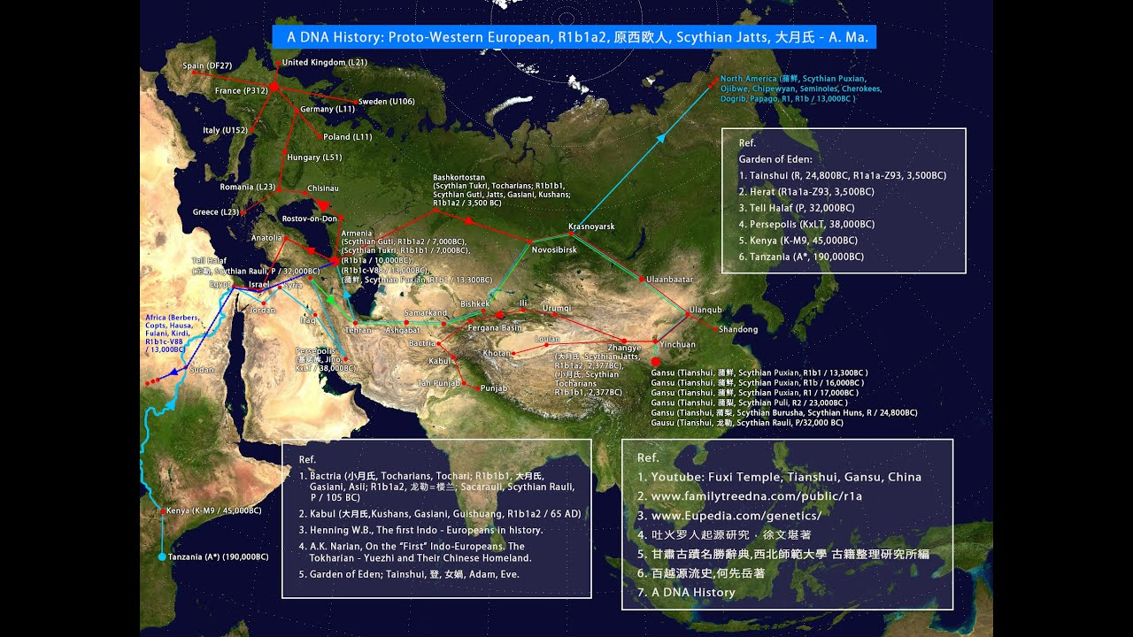 A historical y dna migration route map haplogroups r1a1a r1b1a2 youtube premium gumiabroncs Choice Image