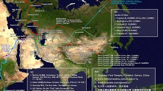 A Historical Y-DNA Migration Route Map Haplogroups: R1a1a - R1b1a2
