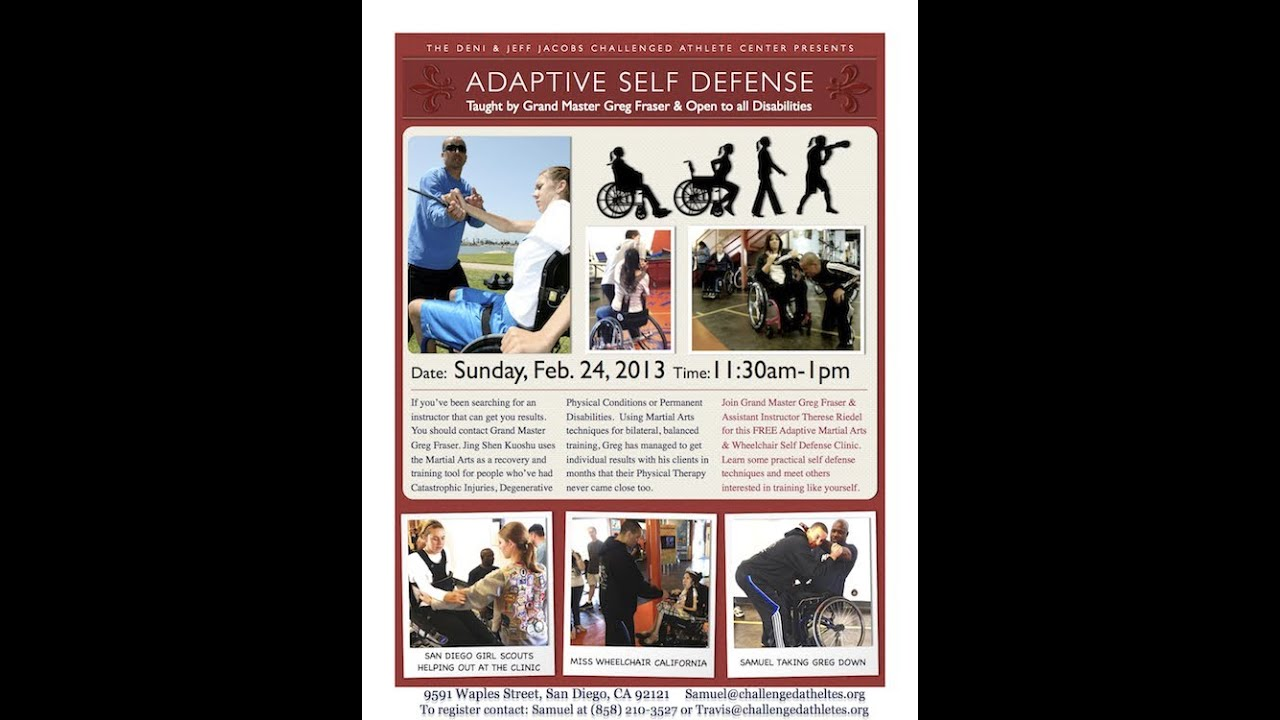 JSK Adaptive Martial Arts Wheelchair Self Defense Clinic