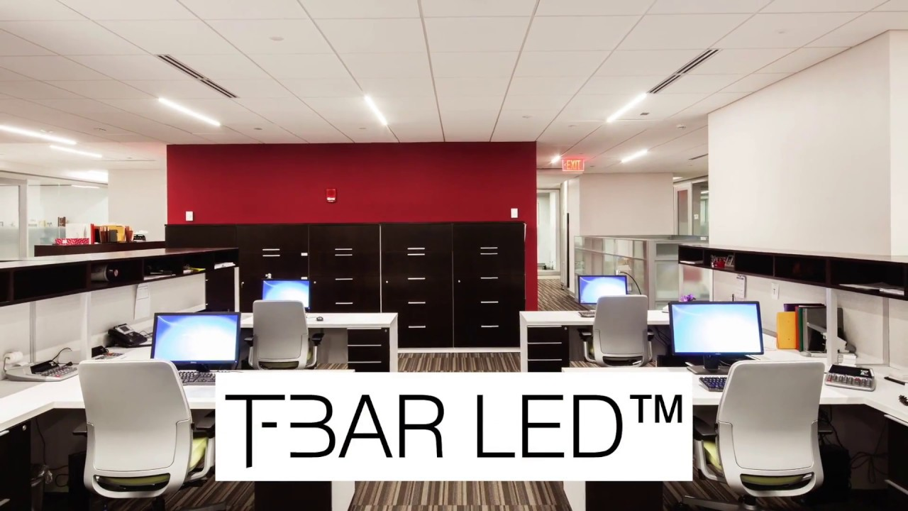 T Bar Led The Only Lighting Fixture That Actually Replaces Ceiling Cross Tee