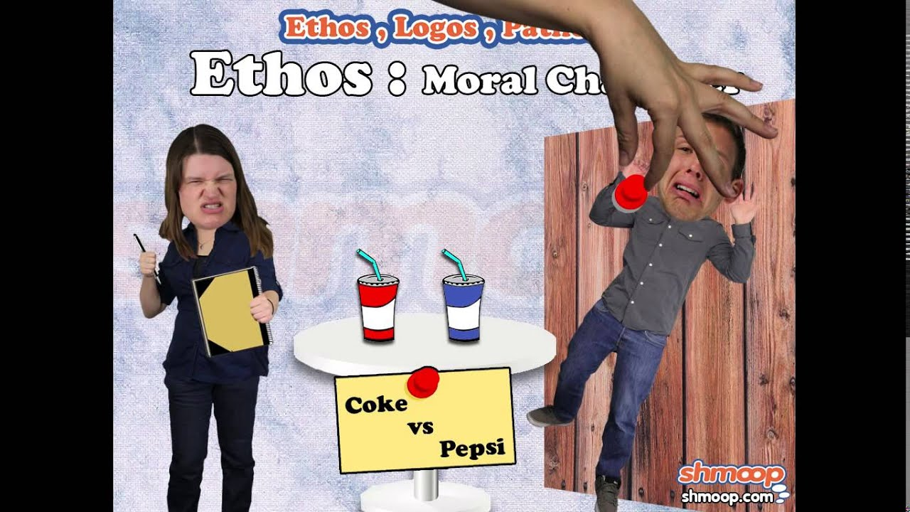 the purpose ethos pathos and logos of the very funny pepsi commercial