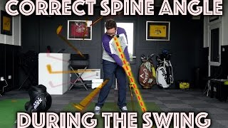 Correct Spine Angle During The Golf Swing