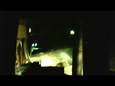 Cat Dozer Land Fill Ohio Night Time