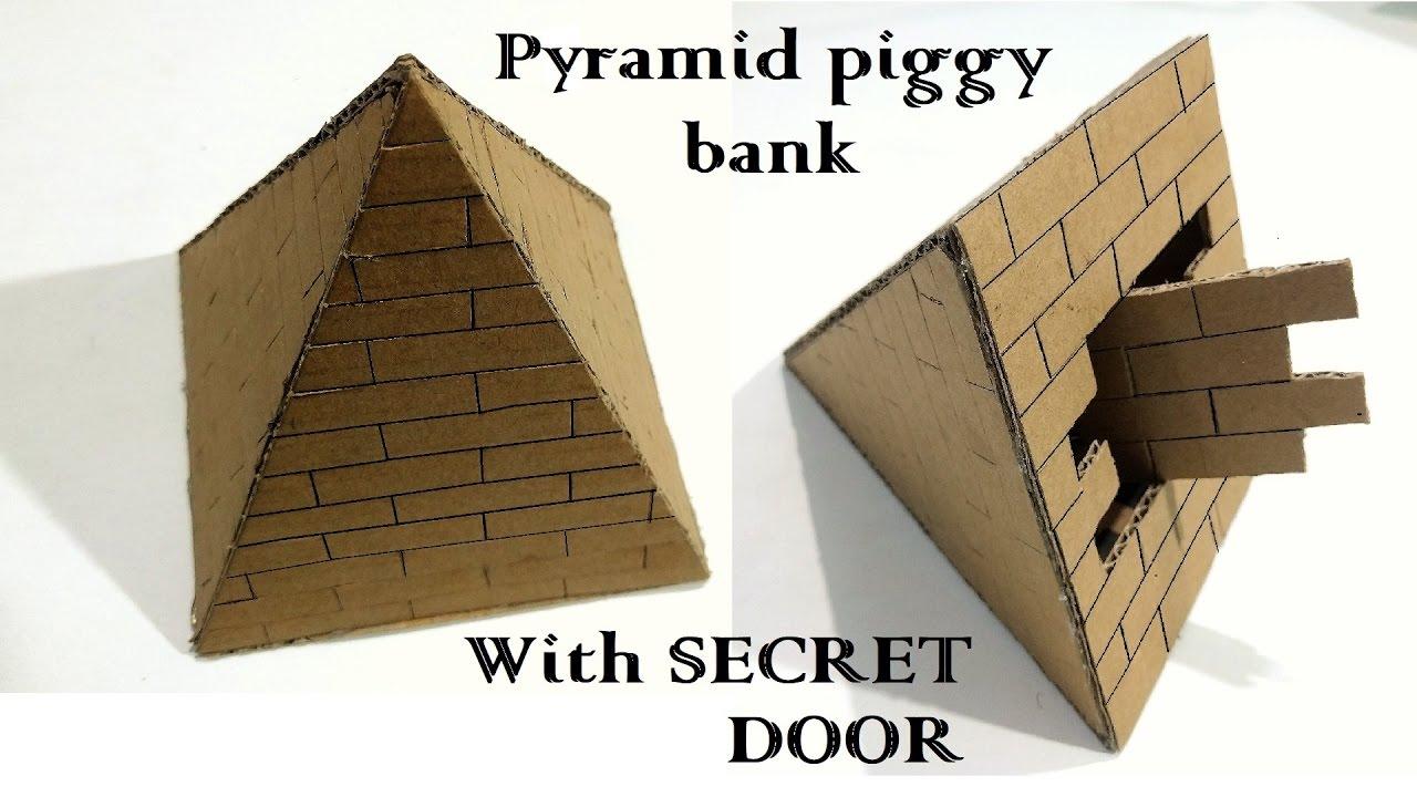 How to make A Pyramid piggy bank safe with secret door   Pyramid Locker safe  sc 1 st  YouTube & How to make A Pyramid piggy bank safe with secret door   Pyramid ...