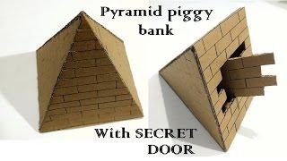 How to make A Pyramid piggy bank safe with secret door    Pyramid Locker safe
