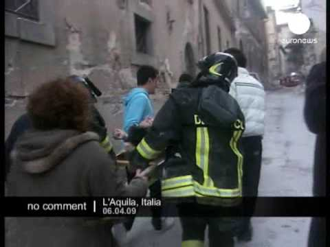 Earthquake in L'Aquila in Italy