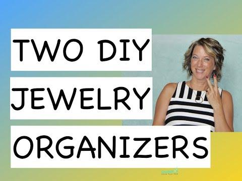 Two DIY  Jewelry Organizer - Bracelet - Earring - Holder