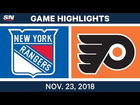 NHL Highlights | Rangers vs. Flyers – Nov. 23, 2018
